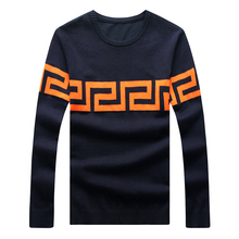2017 new design men knitted sweater and pullovers masculino knitwear 3 color 3XL 4XL 5XL A821