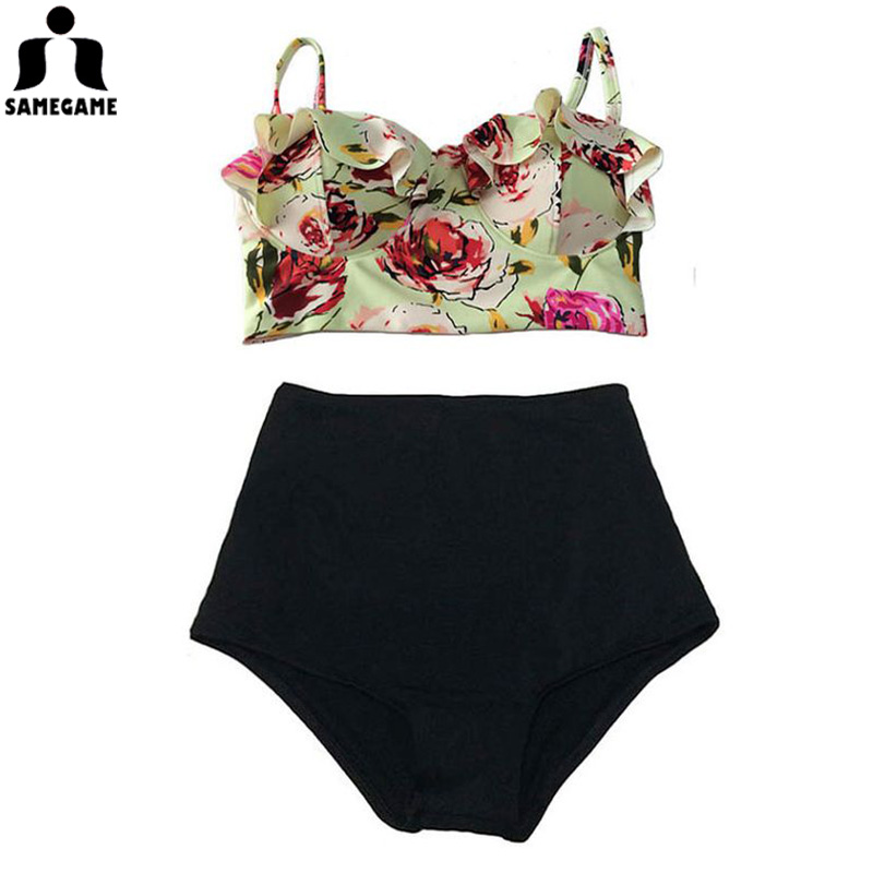 Summer 2017 high waisted bikini sets