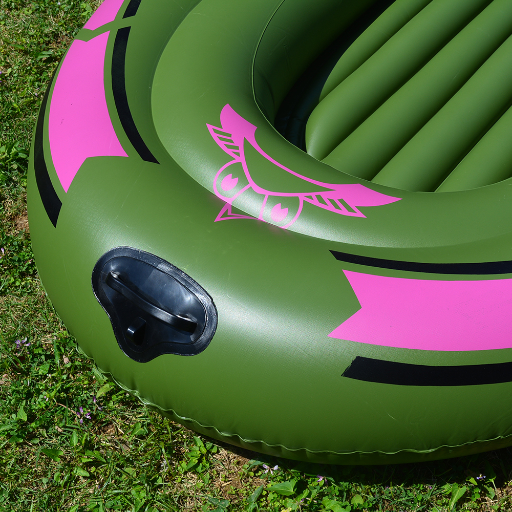 1 Set 2 - 3 Person Portable Inflatable Boat High Strength PVC Rubber Fishing Boat 230x137cm with Paddles Pump Patching Kit (8)