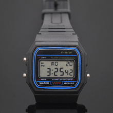 2017 Cool LED Electronic Digital Silicone Watch Soft Rubber Men Watches Sports Casual Student Watches(China)