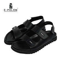 2017 New Summer Beach Shoes Men Sandals Roma Leisure Breathable Cool Open Toe Vintage Fashion Sandal Male Outdoor Shoes Black(China)