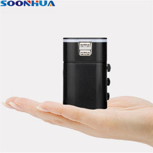 SOONHUA All-IN-1 UK/AUS/USA/EU Converter Travel Adapter Universal Outlet For Globe For Phone/Tablet PC Gift For Travellers
