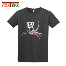 2017 Hot sales new arrival High Quality Cotton Alien Scorpion Beg Free Hugs Cotton T Shirts men juventus tshirt real tees madrid(China)