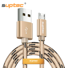 SUPTEC Micro USB Cable, Nylon Fast Charging Data Cable Samsung Galaxy S7 S6 S5 Xiaomi Huawei Universal Android Phone Charger