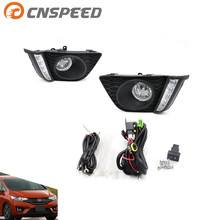 Buy CNSPEED Fog light Honda Fit 2014 US type fog lamps clear Lens Bumper Fog Lights Driving Lamps DRL Daytime Running Lights for $30.00 in AliExpress store
