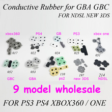 1x Hot sale 17 model Game Repair parts Conductive Rubber Silicone pad for Game Boy GBA GBC NDSL 3DS PS4 PS3 Xbox360 Xbox one