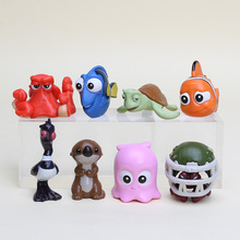 8pcs/set Finding Nemo Clownfish Action Figure Toys Collectible Models Dolls Gifts For Kids 2-5cm