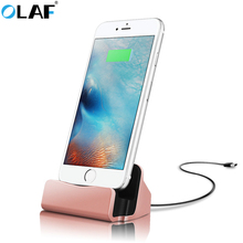 OLAF Mobile Phone Charging Dock Station Desktop Docking Charger Sync Data USB Cable For iPhone 5 6 7 plus Samsung Xiaomi Android(China)