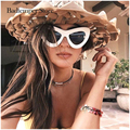 Badtemper 2017 Fashion sexy Round cat eye sunglasses women Brand Designer Small Size Mirror Sunglasses for lady party Beach