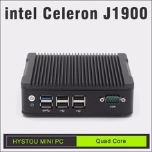 intel celeron j1900 quad Core mini pc 2LAN Port Baytrail J1900 all alloy case fanless Mini PC intel celeron Firewall Router X86(China)