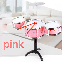Mini Musical Instruments Educational Toy Musical Instruments Learning Drum Jazz Drum Toy Cymbal Sticks Rock Set Musical Toys(China)