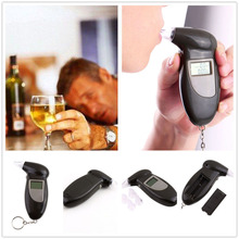 Digital LCD Smart Breath Alcohol Tester For Car Auto  Safety Breathalyzer Analyser Detector Test Keychain Tools