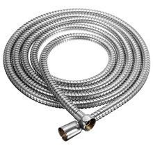 Long Stainless Steel 1/2 Inch Bath Shower Flexible Hose Pipe Fitting Bathroom Product Easy To Install For 3m Length(China)