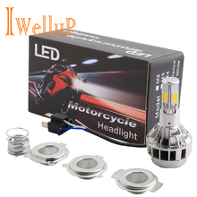 Hs1 H4 LED Motorcycle Headlight Bulbs Motorbike Light Fog Lights Fit Harley Suzuki Ktm Exc Cafe Racer motorcycle Accessories(China)