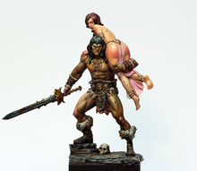 Free Shipping 1/24 Scale 7.5cm Unpainted Resin Figure Conan collection figure