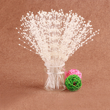 3pcs Fishing Line ABS Artificial Pearls Ball Chain Garland Flowers Wedding Party Decoration Supply - 3mm Round Beads