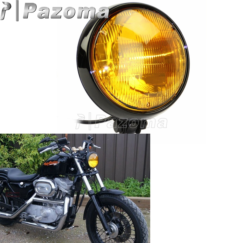 Front Motorcycle Universal Turn Signal Lights Amber Tail Cafe Racer Chopper Dirt
