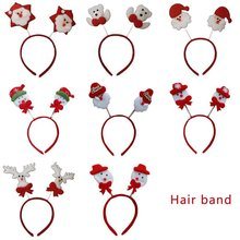 Infant Hair Accessories Baby Girls Bowknot Hairpin Christmas Ornaments Headband Bow Clips Barrette