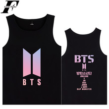 Buy fashion BTS funny t shirts Kpop Tank Tops Summer Women Soft Sleeveless Workout Tank Top streetwear Style Casual 4XL female Vest for $5.99 in AliExpress store