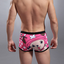Free shipping cotton cute cartoon underwear mens boxer shorts underwear lovely panties sexy underpants boxers cuecas calzoncillo(China)