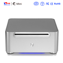 2016 Realan Aluminum Mini ITX Case without Power Supply, Computer Case PC Desktops With CD-ROM