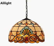 Novelty Creative Tiffany Pendant Light Hanging Lamp Glass Suspension Pendant Lamp Home Indoor Kitchen Living Room Decor Fixtures