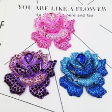 3D Alloy StickerS for DIY Decoration Mobile Phone Charms for Jewelry Making Gem Flower adornment/Accessories/pendant wholesale