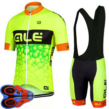 2017 New ! Pro 100% Polyester Breathable Ale Cycling jerseys Bib Shorts Cycling Clothing/Quick-Dry Ropa Ciclismo Bike Jerseys