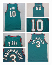 Free shipping Vancouver #10 Mike Bibby #50 Bryant Reeves #3 Shareef Double Stitched Mesh Vintage Basketball Jersey Best Quality