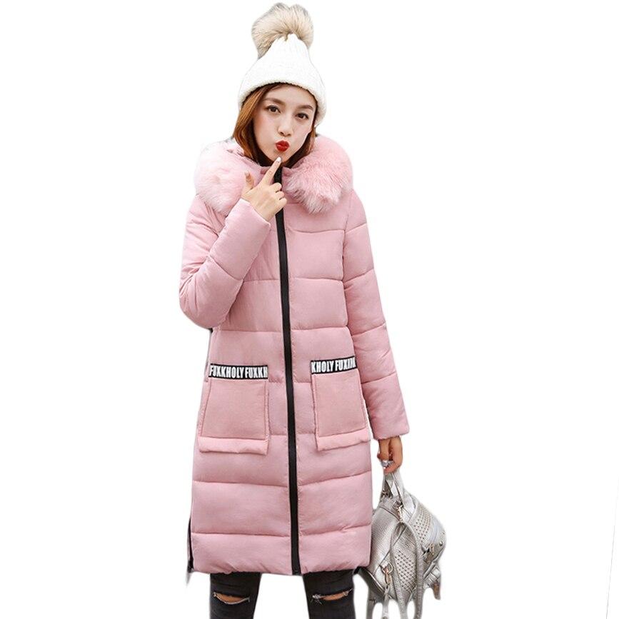 2017 Winter New Fashion Women Elegant Coat with Large Fur Collar Ladies Qualited Jacket Female Hooded Down Parkas Outfits CM1669Îäåæäà è àêñåññóàðû<br><br>