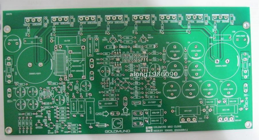 2 channel PCB board One pair F5 25W Class A Power amplifier bare PCB
