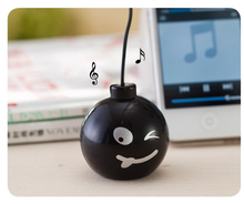 Fashion Audio Dock 3.5mm Jack Portable Stereo Mini Speaker Bomb With Various expressions for iPhone Cell Mobile Phone MP3 MP4