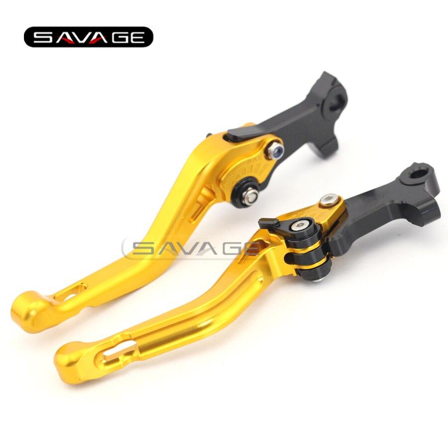 For GILERA/PIAGGIO Beverly 125/250/400 rst/tourer/eu3 Gold Motorcycle Aluminum Adjustable Short Left Right Brake Levers<br>