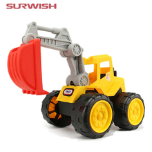Surwish Beach Excavator Children Large Machineshop Truck Series Simulation Kids Fancy Toys - Color Random(China)