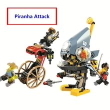 New Ninja Model Bricks Ninjago Movie Piranha Attack Building Blocks Set Compatible lego 70629 Educational toys children