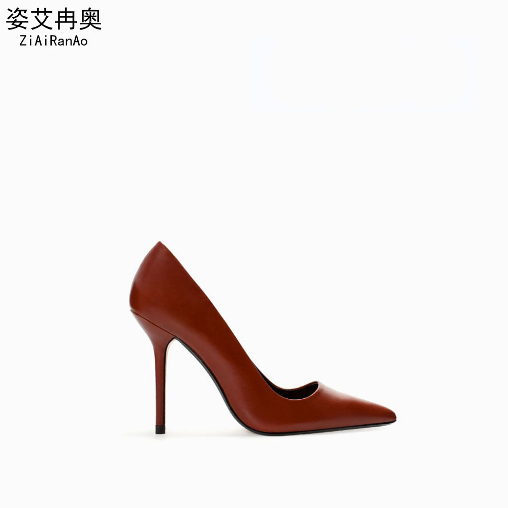 Full Season Footwear Women Fashion Pointed Toe Shoes Woman Sandals 9 cm 7 CM High Heels Classic Office Women Pumps Free Shipping<br>