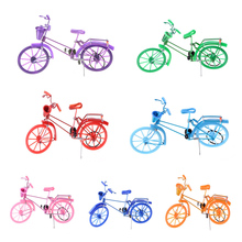Mini Finger Toys Aluminum Bike Fixie Bicycle Finger Scooter Toy Creative Game Suit Children Grownup Random Color(China)