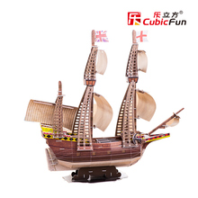 The UK Mayflower ship T4009H Cubicfun 3D Puzzle Handmade DIY Toy Construction paper jigsaw Puzzles For Kids and adult(China)