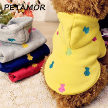 PETAMOR Colorful Puppy Dog Clothes Embroidery Cactus Pet Clothes For Dogs Hoodie Cute Dog Costume Cat Clothing Pet Product PC285(China)