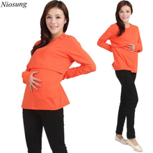 New Pregnant Maternity Clothes nursing clothes Nursing Tops Breastfeeding Long Sleeve T-Shirt for Pregnant Women wholesale v(China)