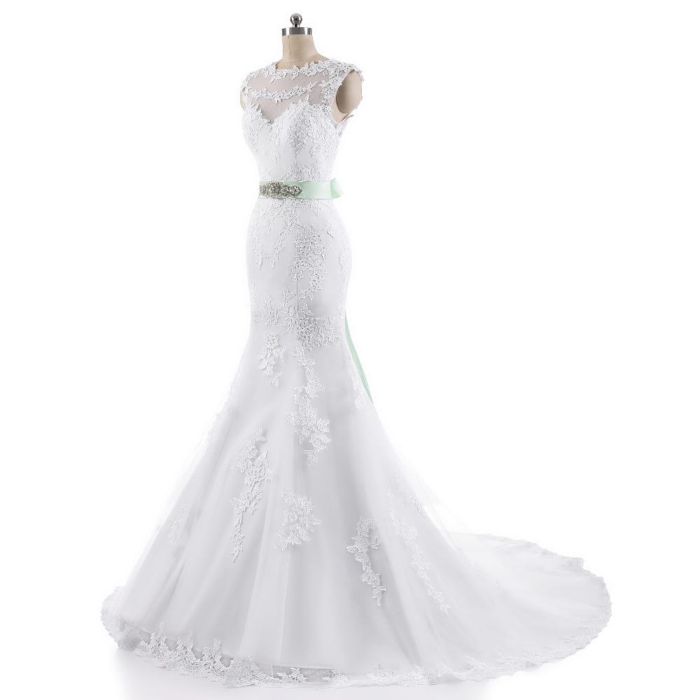Lover Kiss Vestido De Noiva 2017 Robe De Mariee Elegant Lace Body Sleeveless Wedding Dress Sexy Mermaid Wedding Dress 4