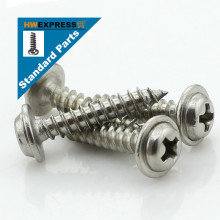 HWEXPRESS 304 Stainless Steel Head Tapping Screws With Pad M3*16