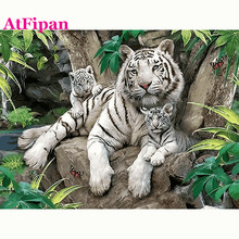 AtFipanWall Picture For Bedroom No Frame Animal Tiger Picture On The Wall Acrylic Children Gift Modular Wall Painting Hot Poster
