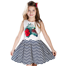 ChildDkivy 3-14 Years Girls Party Dress Kids Clothes 2017 New Summer Princess Dress Children Costumes for 10 Years Girls(China)