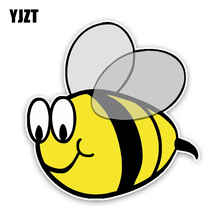 YJZT 12.5CM12.9CM Interesting Lovely Cartoon Bees Colored PVC Car Sticker Bumper Window Decoration Graphic C1-5226(China)