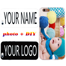 Custom Name TPU Case For iPhone 5 5S 5C SE 6 6S 7 Plus Diy Personalize photo Silicone Cover For Apple iPod Touch 6 Soft Shell