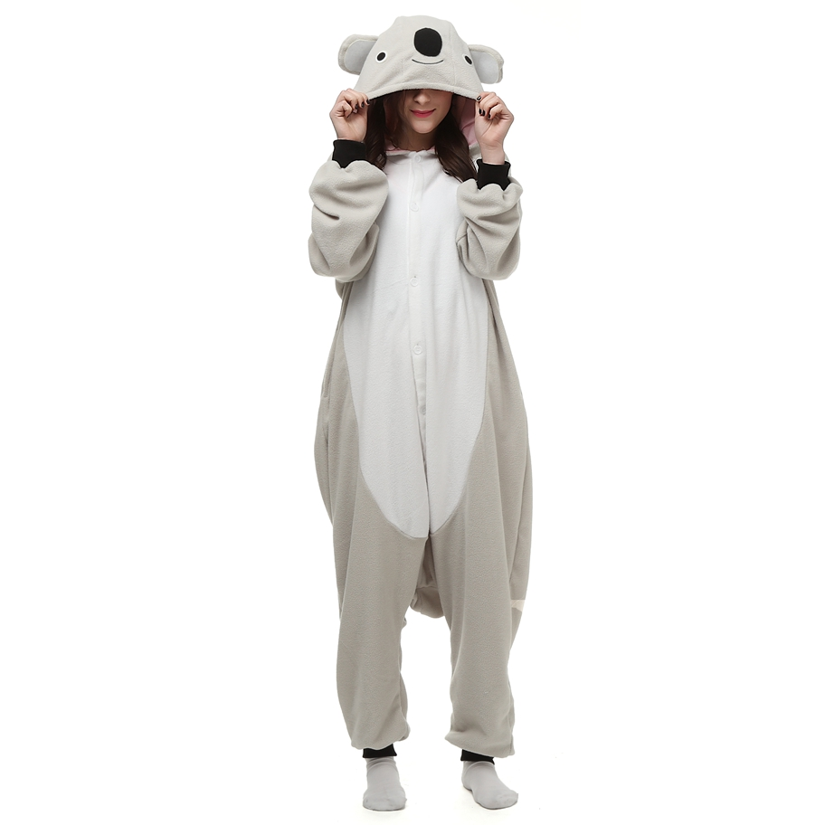 Koala-Kigurumi-Anime-Cosplay-Costume-Grey--Animal-Onesie-Pajama-Halloween