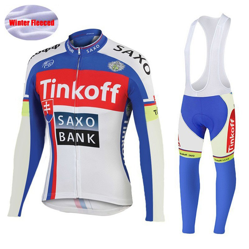 2016 Winter Thermal Fleece Pro Team Long Sleeve Tinkoff Cycling Jersey/Ropa Maillot Invierno Ciclismo Bicycle Cycling Clothing <br>