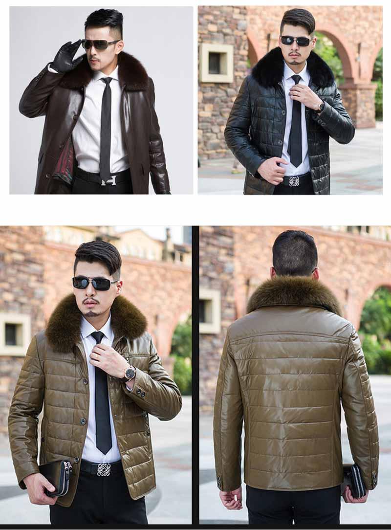fox fur collar men on jacket