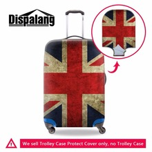 Dispalang fashion Union Jack UK US Flag suitcase trolley case protective cover elastic luggage protectors luggage accessories